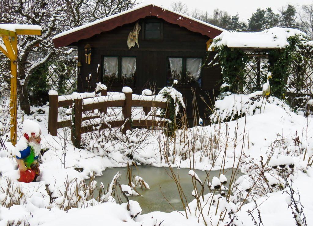 Gartenteich im Winter - winterfest?
